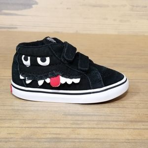 Vans Silly Monster Face Velcro Strap Closure Shoes